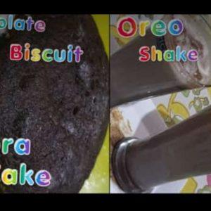 Chocolate biscuit dora cake and oreo shake by vandana #biscuitdoracake# #oreoshake#