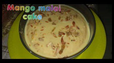 Two in one मलाई केक जो मिठाई भी है और केक भी।।#*Mangomalaicake#