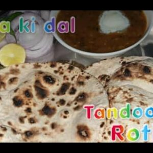 Urad chana daal(माह छोले की दाल) and Tandoori Roti on tawa for binod#maakidaltandooriroti#