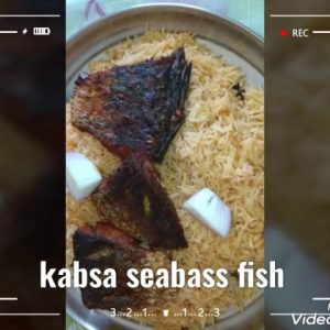 Kabsa fish seabass dishes may way recepi ✌️😊