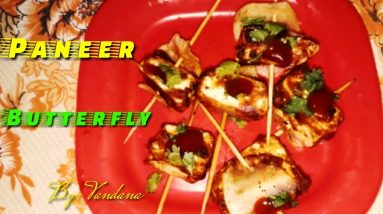Paneer Butterfly बनाना सीखे || Paneer Butterfly with Vandana