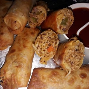 DELICIOUS FAST FOOD SPRING ROLL BY VANDANA