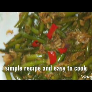 French green beans with dried shrimp stir fried recipe