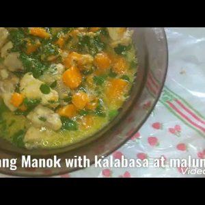 ginataang Manok with kalabasa with malunggay