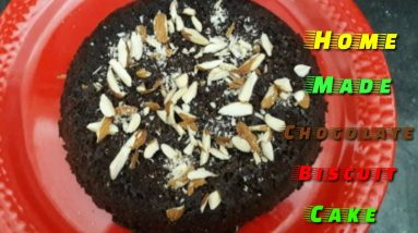 Home Made Chocolate Biscuit Cake || Chocolate Biscuit Cake with Vandana