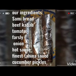 How I made sandwich beef kabab