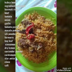 how to make Kabsa beef simple ingredients