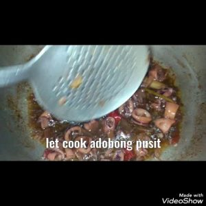 how to make Squids or pusit adobo  with lemon grass my own  recipe
