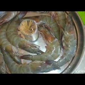 How to remove Prawns Devein black using toothpick
