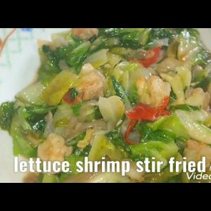 lettuce with shrimp stir fry simple recipe