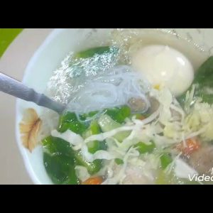 mung bean noodles chicken meatballs soup