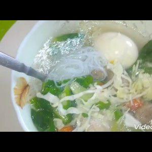 mung bean noodles chicken meatballs soup