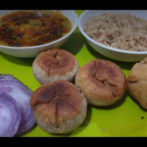 Rajasthan special dish ....Dal bati churma....by vandana #*dalbatichurma#