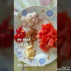 Sambal dry anchovy fish