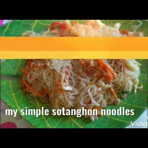 Sotanghon noodles dishes recipe