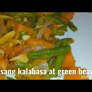 stir fry pumpkin green beans or ginisang kalabasa at green beans