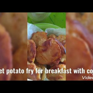 sweet potato fry for breakfast