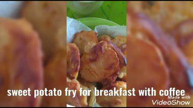 sweet potato fry for breakfast