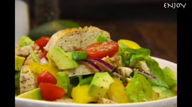 TASTY AVOCADO CHICKEN SALAD RECIPE tasty salad!