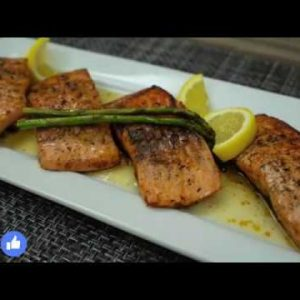 TASTY PAN SEARED SALMON RECIPE WITH LEMON BUTTER