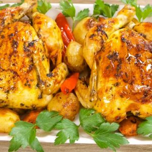 Easy Simple Roasted Cornish Game Hens Recipe: How To Make Baked Cornish Hens With Gravy