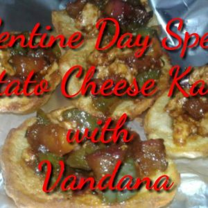 Valentine Day Special Potato Cheese Katori || Potato Cheese Katori