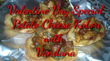Valentine Day Special Potato Cheese Katori || Potato Cheese Katori