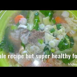vegetable soup  simple ingredients but super healthy