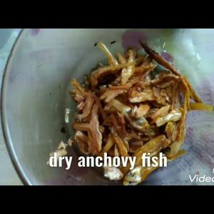 Vegetables mix with dry anchovy fish dishes recepi