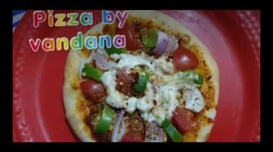 Without cheese homemade yummy and delicious pizza by vandana #*pizza#
