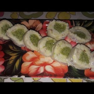 Learn how to make pista roll at home ।।Delicious sweet without gas ।।Pista roll by vandana ।।