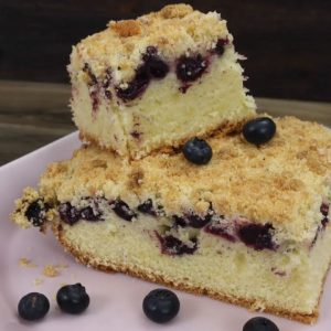 Yummy Blueberry Pie With Streusel Recipe  (Homemade Blueberry Pie)