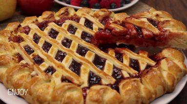 YUMMY STRAWBERRY JAM PIE RECIPE homemade pie recipe