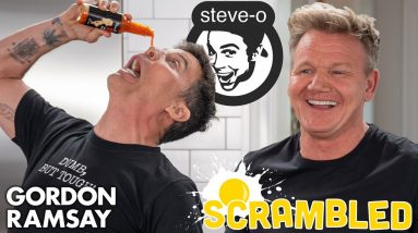 Steve-O Shocks Gordon Ramsay While Making A Southwestern Omelette | Scrambled