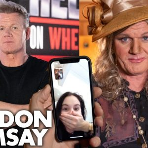 Gordon Ramsay Calls His Kids While Undercover As A Woman On 24 Hours to Hell & Back