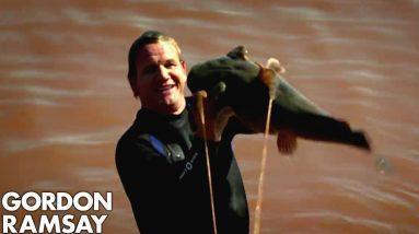 Catching Wild Catfish By Hand in Oklahoma | Gordon Ramsay