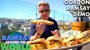 Gordon Ramsay Makes a Chorizo Torta in Mexico with Gino D'Acampo  | Ramsay Around the World