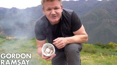 Gordon Ramsay Makes Scrambled Eggs With Worms In Peru | Scrambled