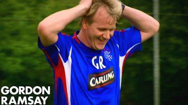 Gordon Ramsay Playing Football