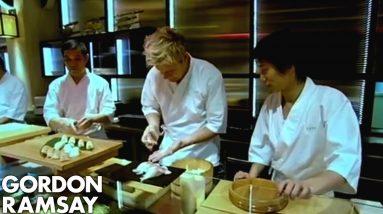 Gordon Ramsay Struggles to Make Sushi | Gordon Ramsay