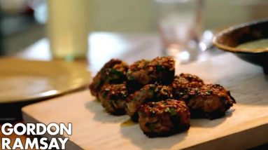 Lamb Koftas with Beetroot Hummus | Gordon Ramsay