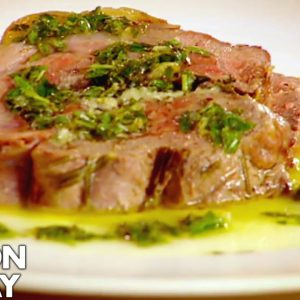 Leg of Lamb with Goats Cheese and Mint | Gordon Ramsay
