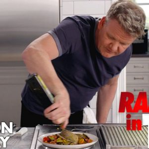 Gordon Ramsay Cooks Mediterranean Sea Bass in Under 10 Minutes | Ramsay in 10