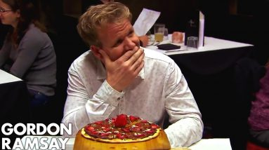Ramsay Forced to Spit Out BACON & CHOCOLATE PIZZA!   Hotel Hell