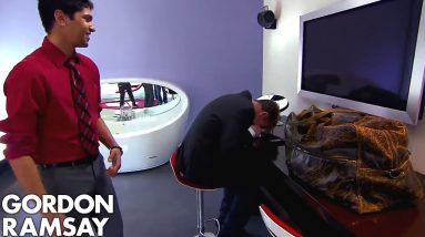 Ramsay's Brilliant Reaction to Sports Car Themed Hotel   Hotel Hell