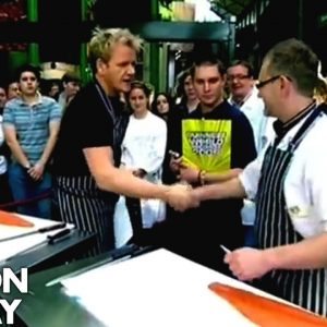 Salmon slicing world record | Gordon Ramsay