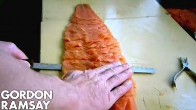 Slicing Smoked Salmon | Gordon Ramsay