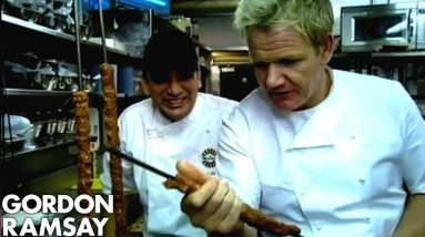 You need practice man' | Gordon Ramsay Learns to Make Kebabs
