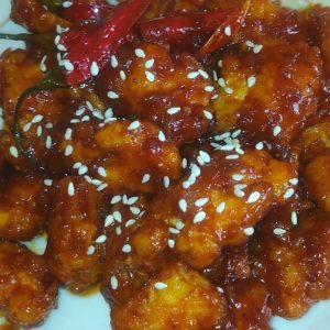 Korean Sweet spicy Dakgangjeong  Fried Chicken tast so amazing