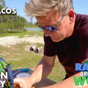 I Grill Up Blue Corn Steak Tacos in Texas | Gordon Ramsay
